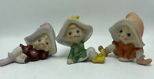 Homco Gnomes .Vintage #5213 Elves Pixies Figurines Set of 3