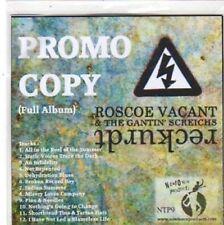 (BW703) Roscoe Vacant & The Gantin' Screichs, Reckurdt - 2010 DJ CD
