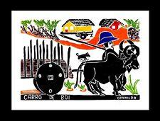 Brazil Folk Art Givanildo Carro de Boi Ox Cart Sugar Cane Fazenda Print in Color