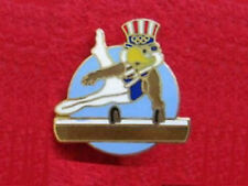 1984 Los Angeles Olympics Pommel Horse Gymnastics Lapel Pin - Official Design!