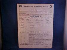 "1946-1972 PONTIAC ""New Car Pre-Delivery and 2000 Mile Inspection and Adjustment"""