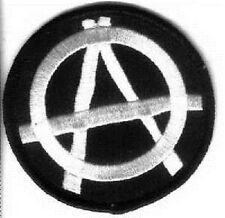 ANARCHY EMBROIDERED IRON ON BIKER PATCH