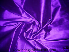 6 YARDS LOT DARK ROYAL PURPLE 100% AUTHENTIC SILK FABRIC for DRESS BLOUSE DRAPE