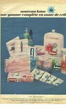 PUBLICITE 1966  LOTUS gamme compléte en ouate de cellulose