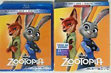 Zootopia [2019, Blu-Ray, Dvd, Digital, Slipcover] New 📀🆕