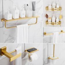 Gold Matt Painting Finish Bathroom Holder Rail Rack Bar Hook Wall Mounted Set