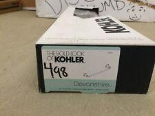 Kohler K-10550-G Devonshire 18-Inch Towel Bar, Brushed Chrome