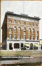 Edmonton, Alberta, Canada 1907 Postcard: Business Block, Bank of Nova Scotia