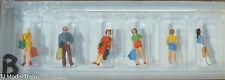Preiser N #79023B Passengers -- Teenagers (N Scale) Plastic figures Painted