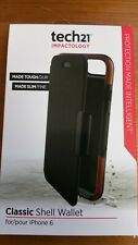 T21-4265 New Genuine Tech21 Classic Shell Wallet Case for iPhone 6/6s - Black