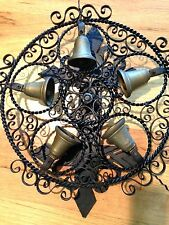 Antique Revolving Iron Brass Door Bell Wheel of Bells