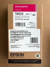 Epson T6023 Vivid Magenta Ink for Stylus Pro 7880, 9880, 7800, 9800 (07/2020)