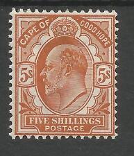 Cabo de Buena Esperanza SG78 el 1903 Auyenta 5/naranja-marrón Menta Fresca Gato £ 160