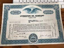 LIVINGSTON OIL COMPANY STOCK-1 SHARE 1962