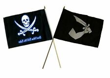 "12x18 12""x18"" Wholesale Combo Pirate Dead Men Tale & Thomas Tew Stick Flag"