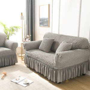 1/2/3/4 Seater Elastic Lattice Sofa Couch Covers Armchair Slipcover Protector