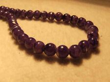 Purple Round 8 - 8.9 mm Size Jewellery Making Beads