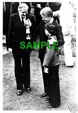 ORIGINAL PHOTO - AMERICAN PRESIDENT JIMMY CARTER - JAMES CALLAGHAN & MINERS LAMP