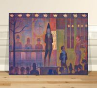 "Georges  Seurat Circus Show ~ FINE ART CANVAS PRINT 36x24"" ~ Pointalism"