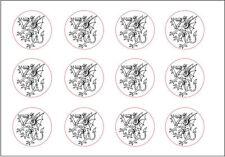Royal Knight Rampant Dragon Heraldry Blazon Arms War Seal Rubber Stamp Battle D