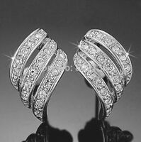 ANGEL WINGS  WHITE GOLD PLATED STUD EARRINGS MADE WITH SWAROVSKI CRYSTALS