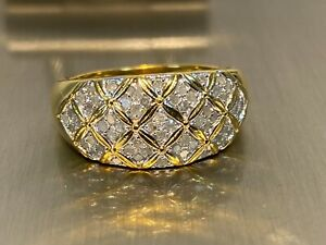 925 Silber Diamant Ring HIGHLIGHT HIER >  58 Diamanten / Ring  Gr. 19
