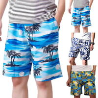 Men Shorts Casual Elastic Waist Half Short Pants Surfing Swimwear Beach Pant HL