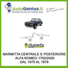 MARMITTA SILENZIATORE POSTERIORE E CENTRALE ALFA ROMEO 1750/2000 DAL 1970 AL 78