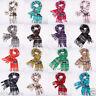 Men Women 100% CASHMERE Scarf Winter Plaid Check Wool Scarves