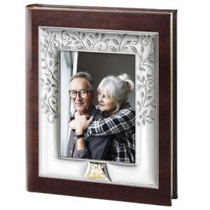 50th Anniversary of Wedding Photo Album Cover Frame 5''x7'' Tree of Life
