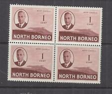 NORTH BORNEO, 1950 KGVI 1c. Mount Kinabulu, block of 4, mnh.