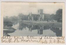East Lothian postcard - Abbey Church, Haddington - P/U 1903 (A520)