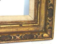 VINTAGE HAND CARVED GILDED WOOD FRAME FOR PAINTING  20 X 16  INCH