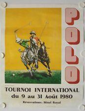Affiche TOURNOI  INTERNATIONAL POLO 1980