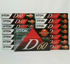 TDK Blank Audio Cassette Tapes Lot Of 15 D60 60 Minutes New High Output Normal