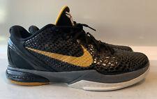 Nike Zoom Kobe 6 VI Black Del Sol 429659-002 Black Gold Mens 13 Shoes *see desc