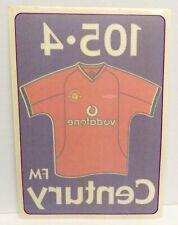 Manchester United Rare Century FM Radio Window Sticker