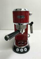 Delonghi EC680.R Dedica 15 Bar Pump Espresso and Cappuccino Maker, Red