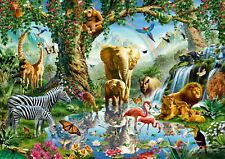 Ravensburger - 1000 PIECE JIGSAW PUZZLE - Adventures In The Jungle Animals