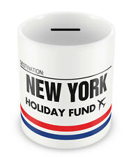 NEW YORK Holiday Fund Money Box - Gift Idea Travelling Savings Piggy Bank