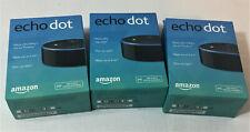 Amazon Echo Dots (2nd Generation) Smart Speaker with Alexa, Black, Lot of 3