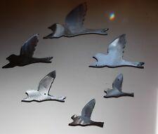 Flying Birds Silver  Metal Wall Decor