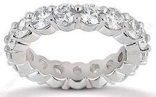 3.00 ct Round Diamond Eternity Ring 14K White Gold Band 20 x 0.15 ct G-Si1 sz 7