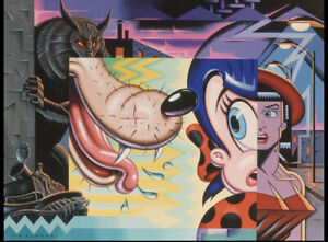 """""""A Date With Mr. Big Bad"""" By Todd Schorr S/Ltd Print 1985, RARE"""