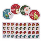 3 Sheet Merry Christmas Badge Sticker Envelope Seal Wrapping Stickers LJ