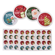 3x  Sheet Merry Christmas Badge Sticker Envelope Seal Wrapping Stickers Gift I+