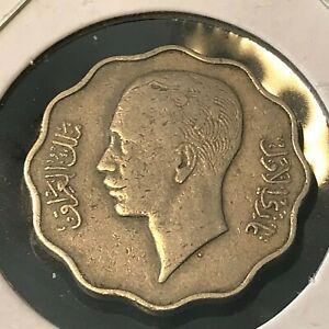 1938 IRAQ  10 FILS NICE COIN