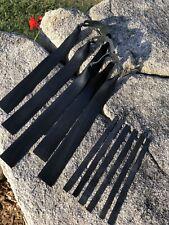 Gzk .72 Set Of 3 Black Latex Ott or Ttf Target Flat Slingshot Bands. catapult
