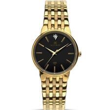 Accurist 8119 Ladies Diamond Set Black Dial Gold Tone Bracelet Watch RRP £139.99