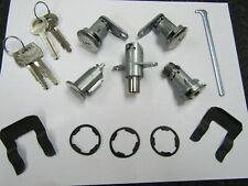 67 68 Mustang complete lock set kit keys ignition door trunk glove box gaskets